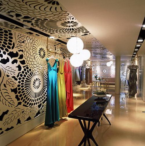 Vakko couture the elegant boutique design inspiring for Boutique interior designs