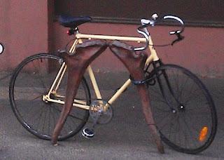 A Beige Bull Horn Fixie Bike