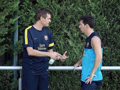 Vilanova confirmó la recuperación de Leo Messi