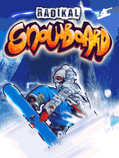 Screenshots of the Radikal snowboard for java mobile, phone.