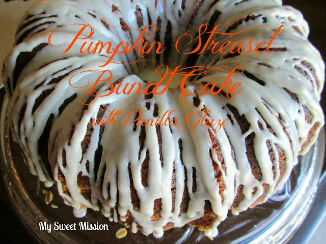 Pumpkin Streusel Bundt Cake with Vanilla Glaze by My Sweet Mission