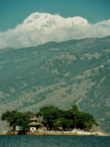 Varahi temple, Annapurna South and Annapurna I
