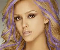 jessica alba colored hair