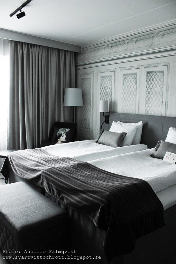 hotell, sovrum, hotellrum, hotellrummen, scandic rubinen i Göteborg, ny design, ruby, grått, inredning, avenyn, renoverat,