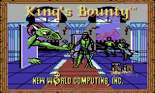 King's Bounty Commodore 64 title screen