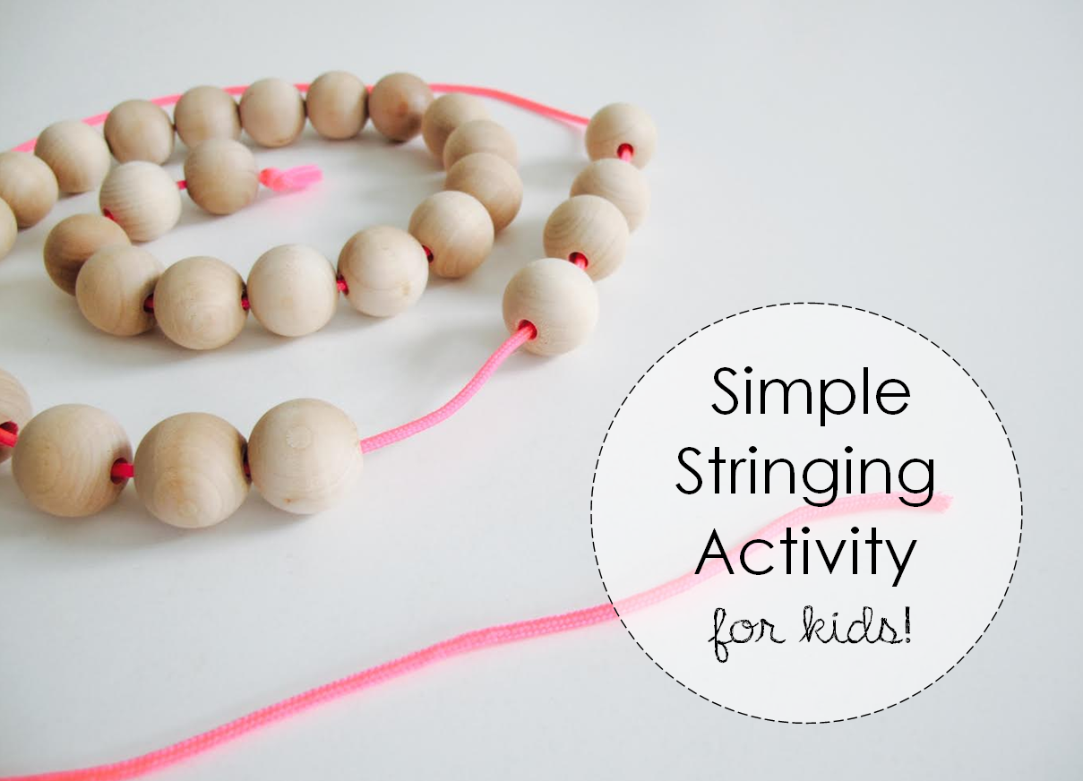 HOW To: Stringing Activity for Kids