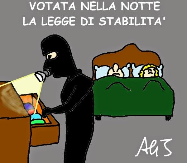 legge stabilità, tasse, spending review, governo, satira, vignetta