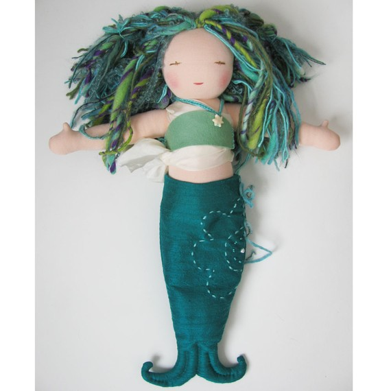 Кукла русалка из ткани