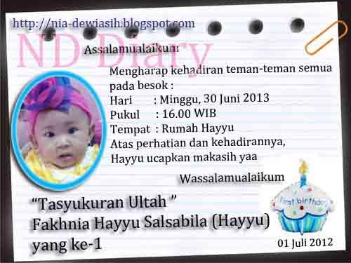 Undangan Ulang Tahun Anak Contoh Desain Surat Pictures Picture