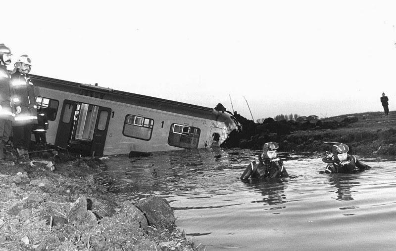 Ontsporing trein Warmond 1980