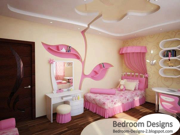 Modern Kids Bedroom Design Ideas , It Has A Large Rose On Its Ceiling And  Wall