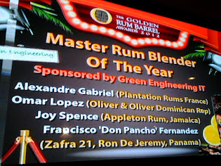 Green Engineering Sponsored of the Master Rum Blender Award at the UK Rum Fest 2012