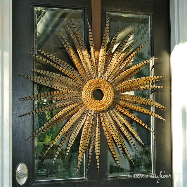 Modern Feather Wreath