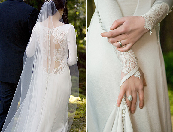 Breaking dawn bella wedding dress for Wedding dress with buttons all the way down