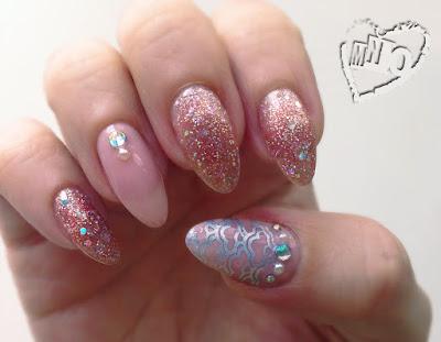 Elite99 Glitter diamonds UV Gel Polish Born Pretty Silver Stamp Polish Ya Qin An