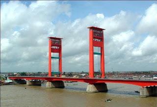 Pariwisata Palembang Indonesia - Jembatan Ampera