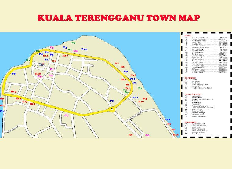 Kuala Terengganu City Map