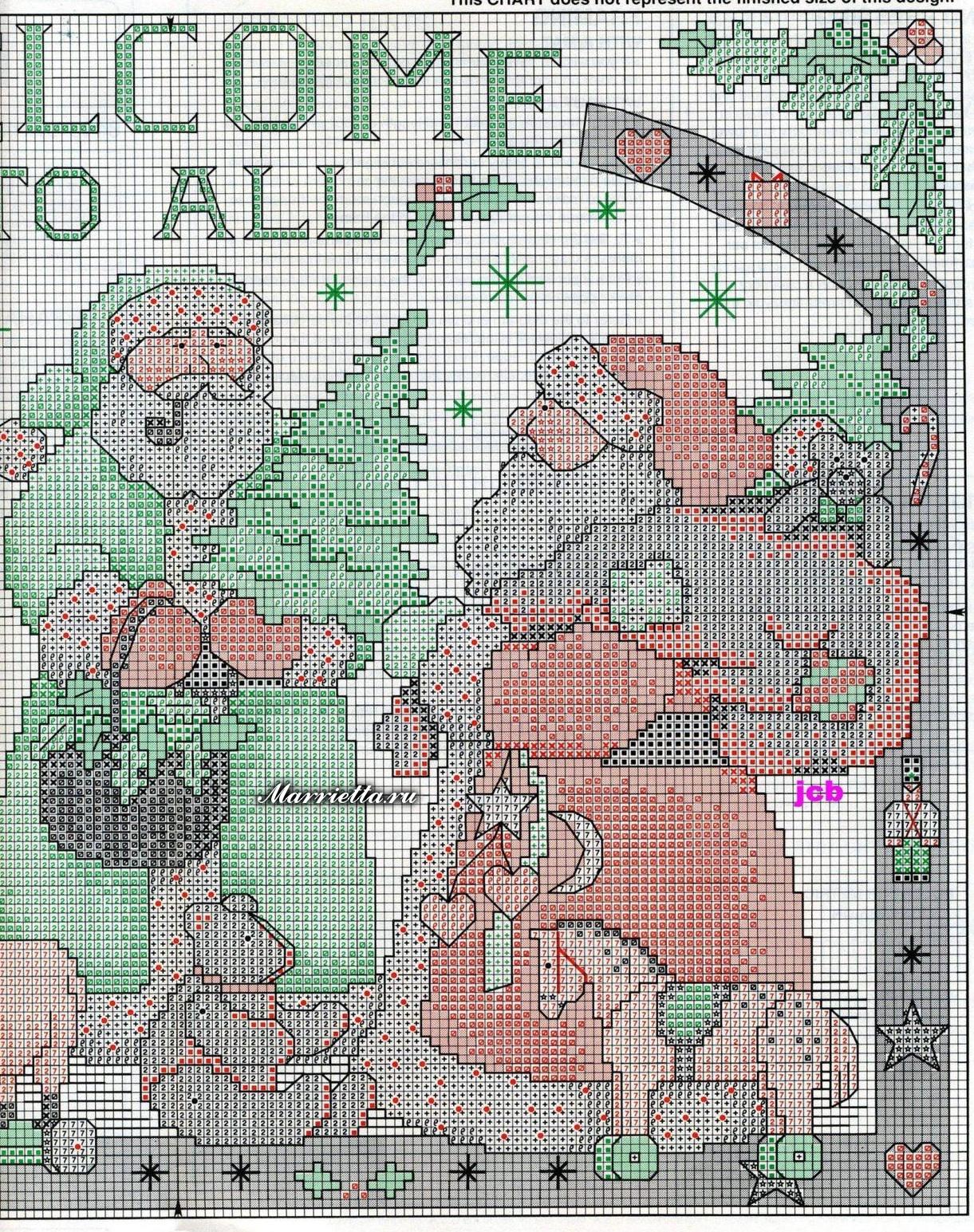 Новогодняя вышивка. Снеговики и Санта Клаусы