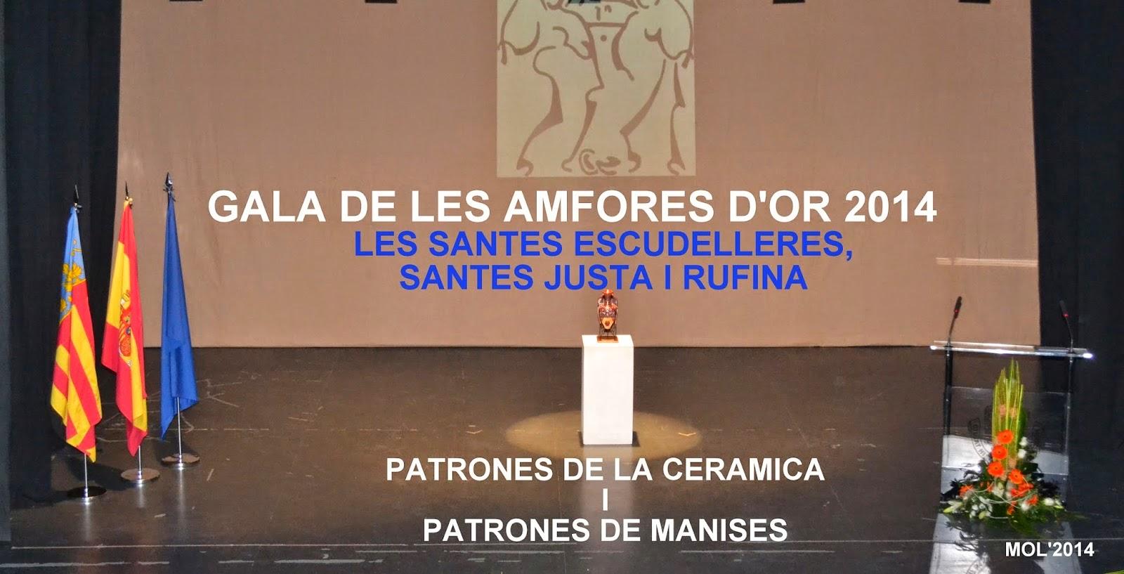 GALA DE L'AMFORA D'OR 2014, AUDITORIO GERMANÍAS, 15 DE JULIO.