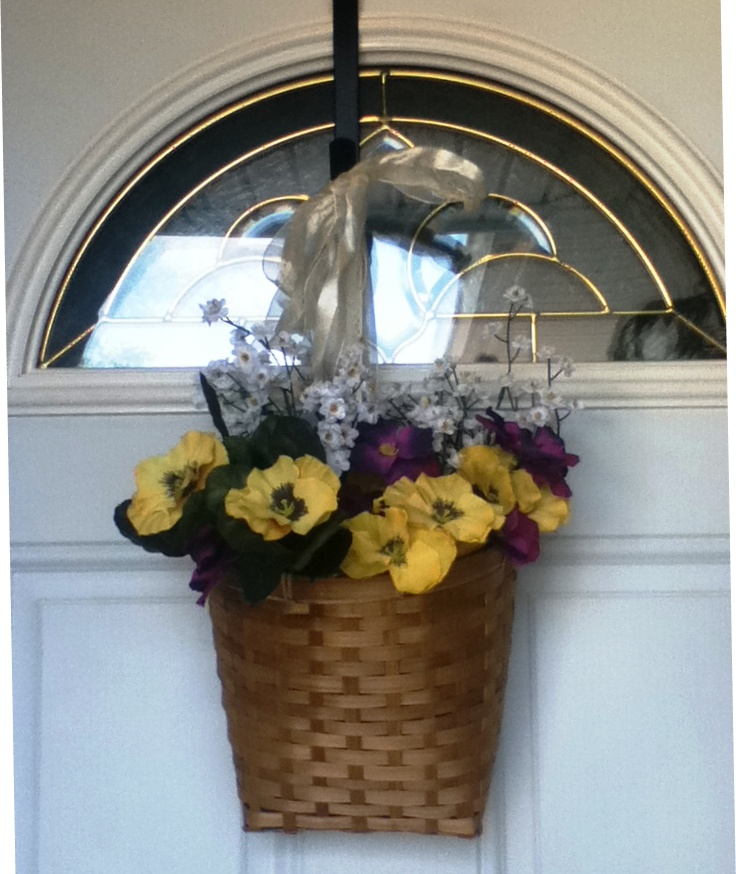 Flower Basket For Front Door : Virginia S Life Such As It Is Not So Extreme