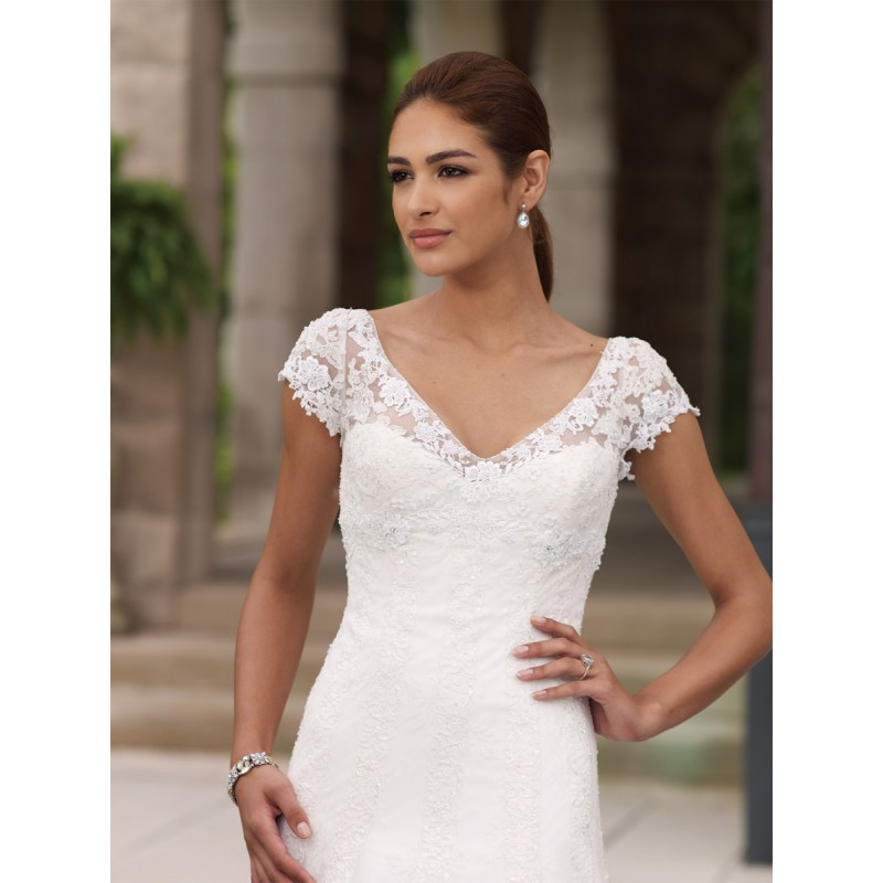 Chimakadharoka2012 wedding dresses with cap sleeves and for Lace sweetheart wedding dress cap sleeves