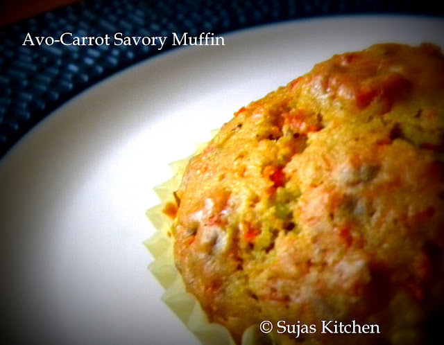 Avocado-Carrot Savory Muffins