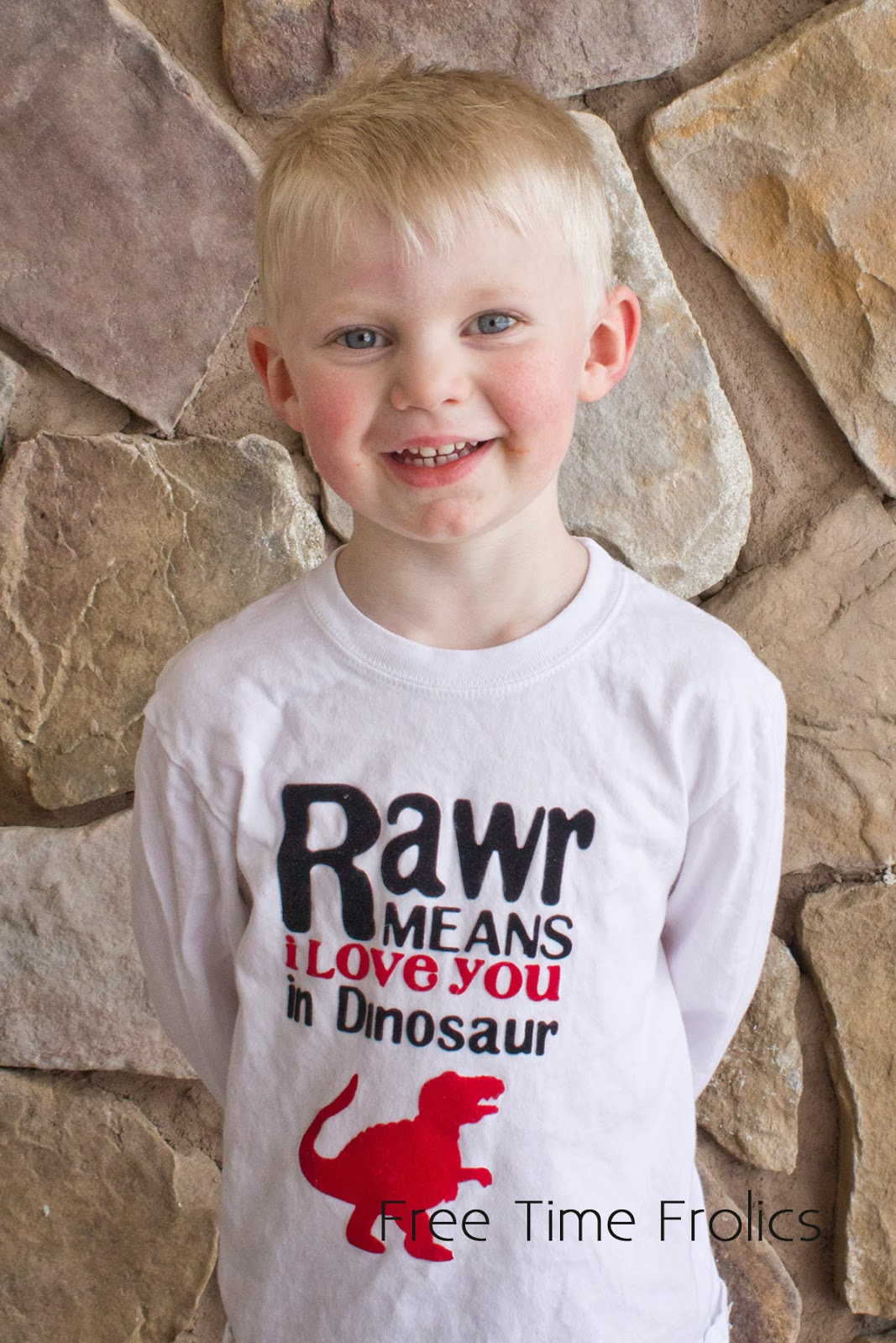 rawr means I love you in dinosaur t- shirt www.freetimefrolics.com