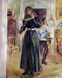 Berthe Morisot (1841-1895) - Julie playing a violin