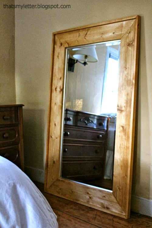 How to make a wood floor mirror