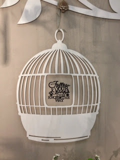 Birdcage with Vinyl Quote