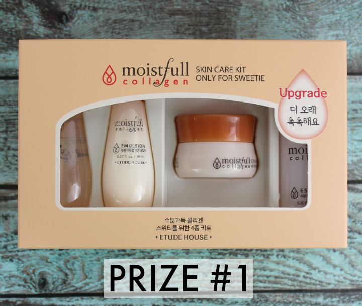 ETUDE HOUSE COLLAGEN MOISTFULL SKINCARE sample kit