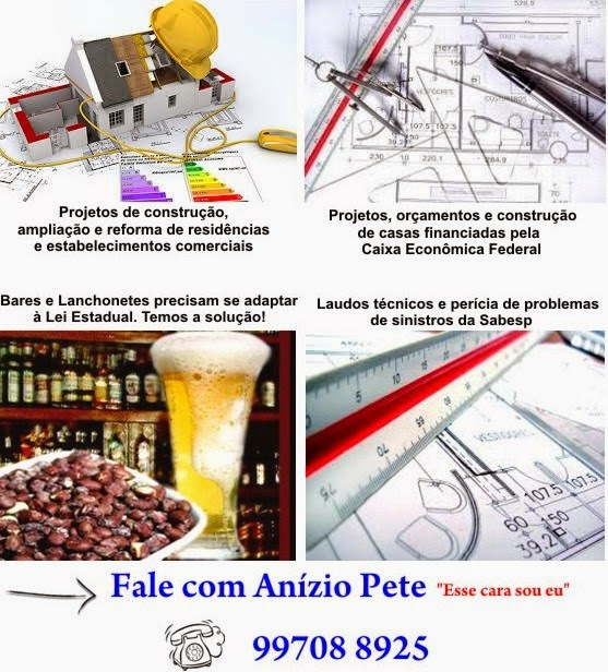 SE VOCÊ VAI CONSTRUIR OU REFORMAR... FALE COM ANÍZIO PETE!