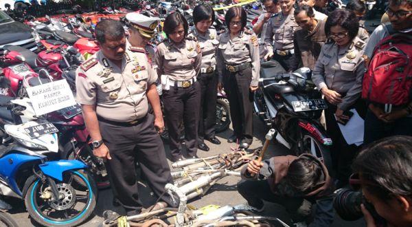 Polisi Bandung Bakal Sasar Sekolah untuk Razia Knalpot Bising