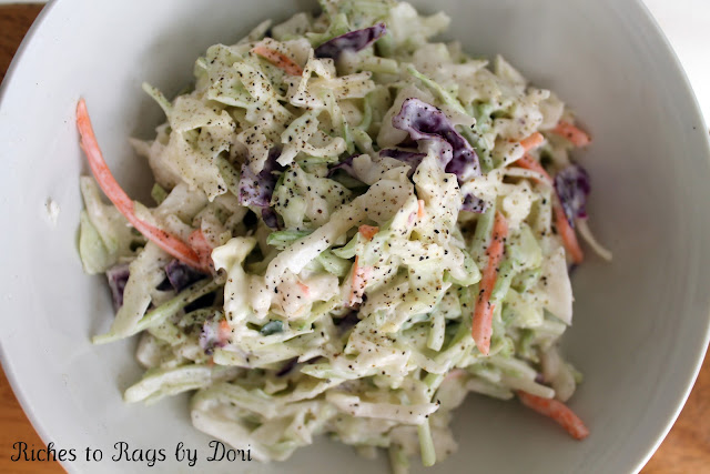 Riches to Rags* by Dori: Easy Homemade Creamy Coleslaw