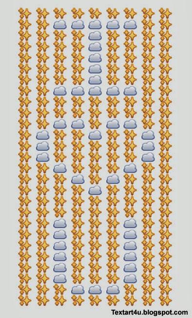 i love you emoji art for facebook comments