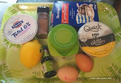 ngredients for Quark mini cheesecakes