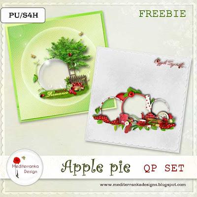 "Scrapbook freebie ""Apple pie"" by Mediterranka"