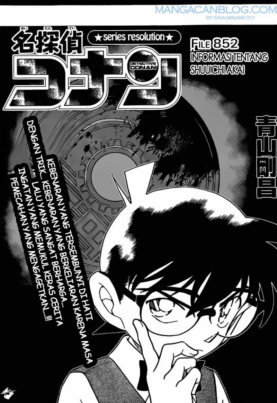 Dilarang COPAS - situs resmi www.mangacanblog.com - Komik detective conan 852 - Informasi tentang shuuichi akai 853 Indonesia detective conan 852 - Informasi tentang shuuichi akai Terbaru |Baca Manga Komik Indonesia|Mangacan