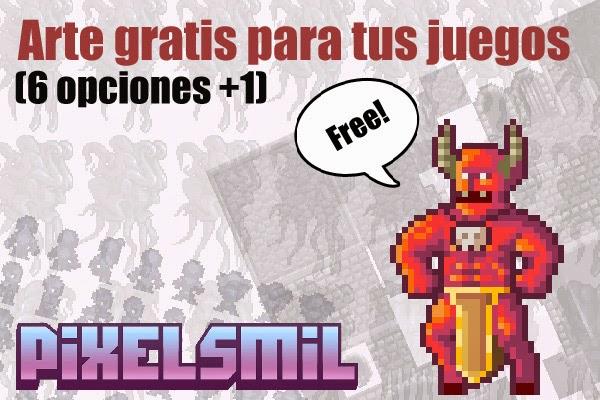 Pixels Mil: Arte gratis para tus juegos (6 opciones +1)