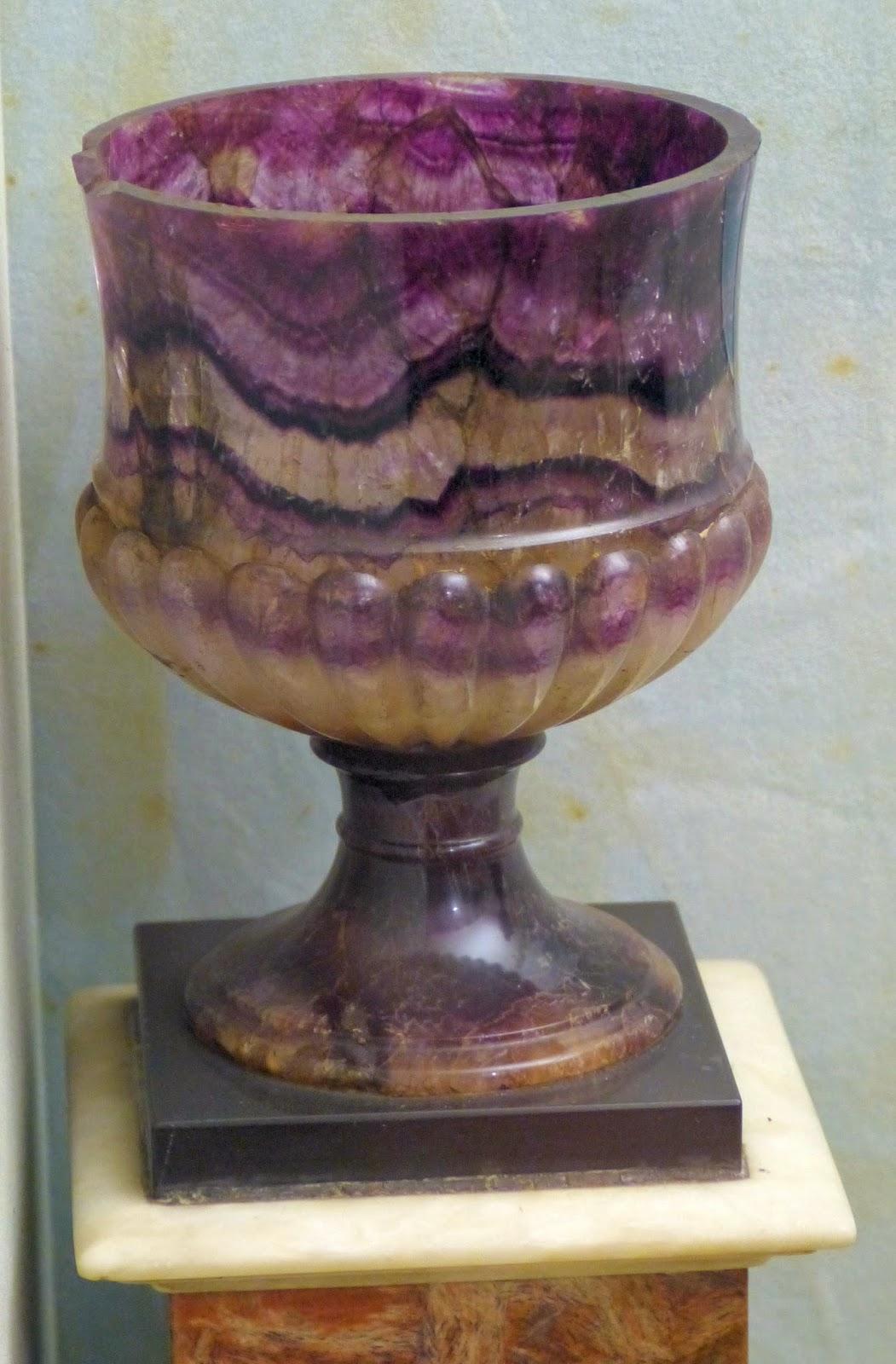 Blue John urn, Buxton Museum