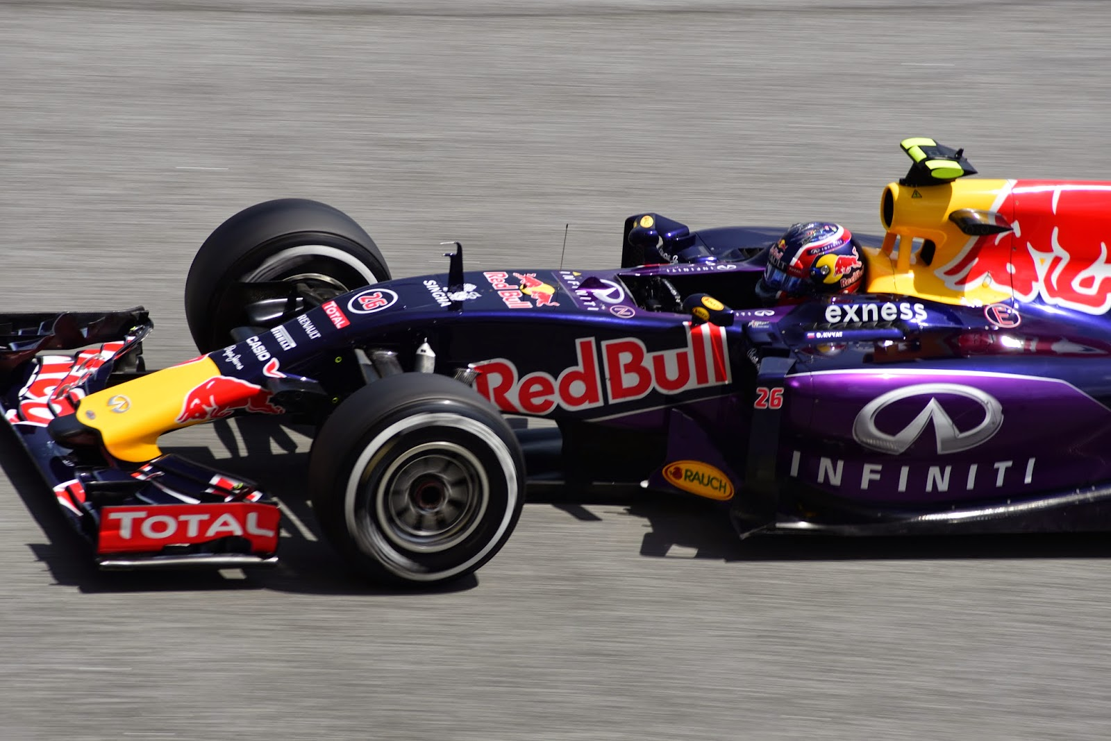 Daniil Kvyat driving inside a Formula 1 CCar