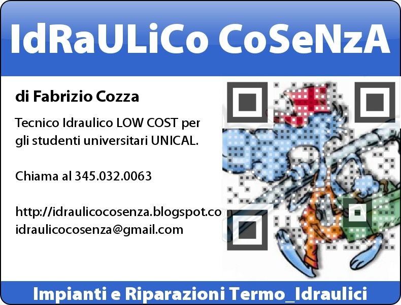 Idraulico A Cosenza 345.032.0063 - Tecnico LOW COST per studenti Universitari UNICAL Rende CS