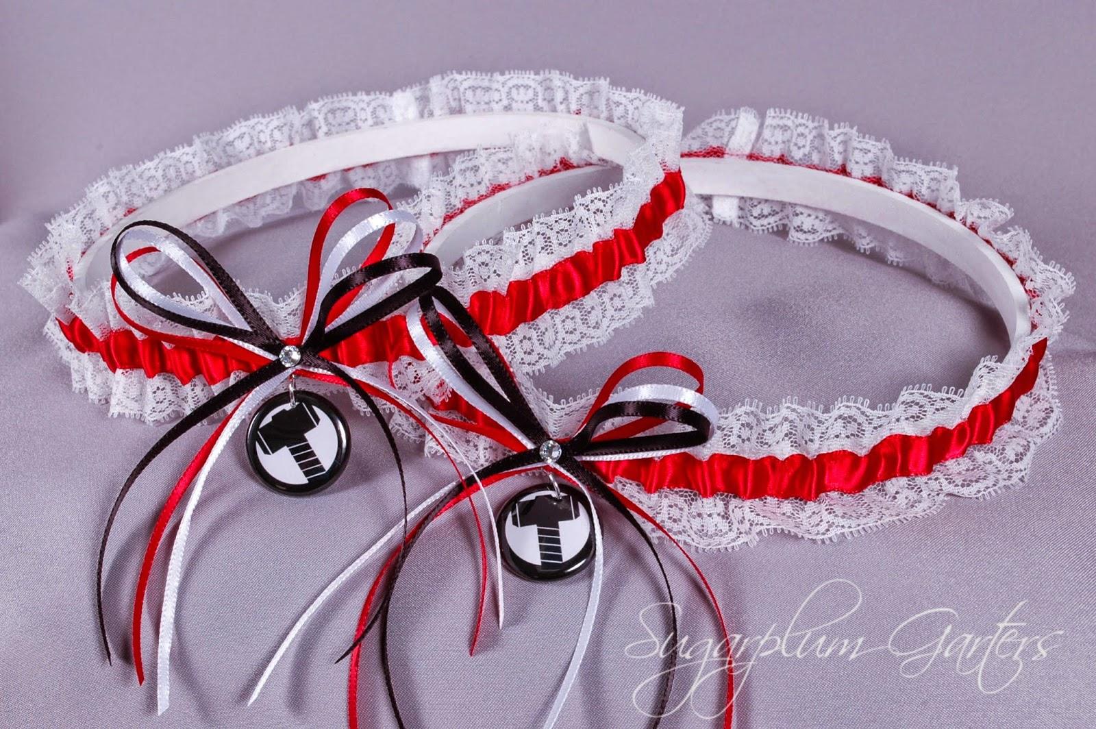 Thor Lace Wedding Garter Set by Sugarplum Garters