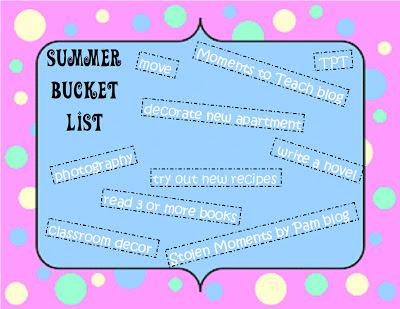 Wednesday Writes: Summer Bucket List