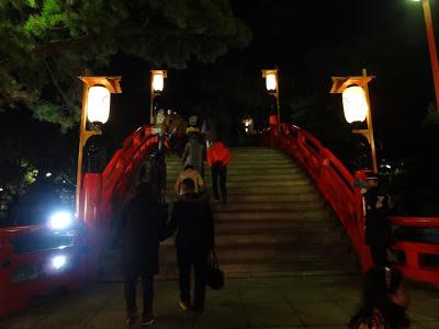 大阪の初詣に有名な住吉大社の太鼓橋:関西夜景100撰