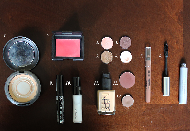 coastal scents chai spice eyeshadow makeup look nars cactus flower cream blush