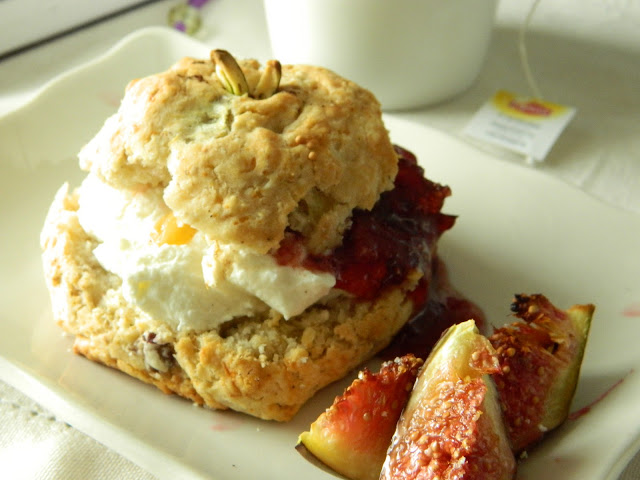 Lemon Love Notes: Fig Scones with Labneh & Raspberry Jam