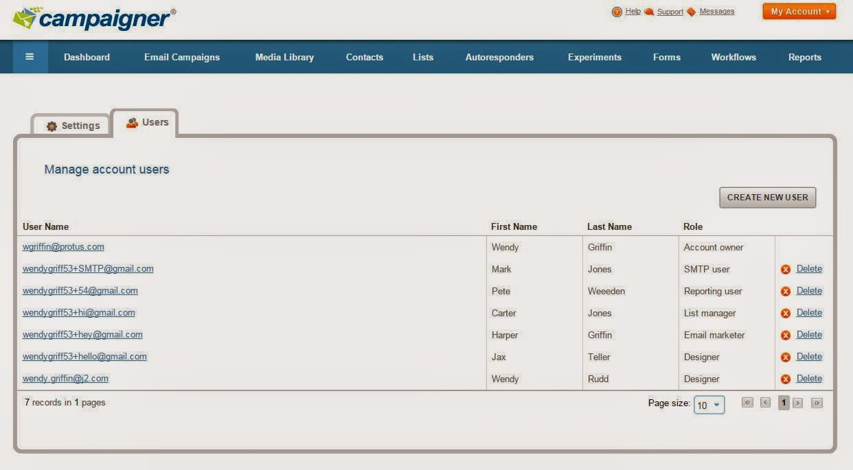 Campaigner Email Marketing: User Management 2