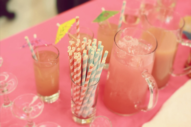 seasons catering pink lemonade at swimco pack for paradise event