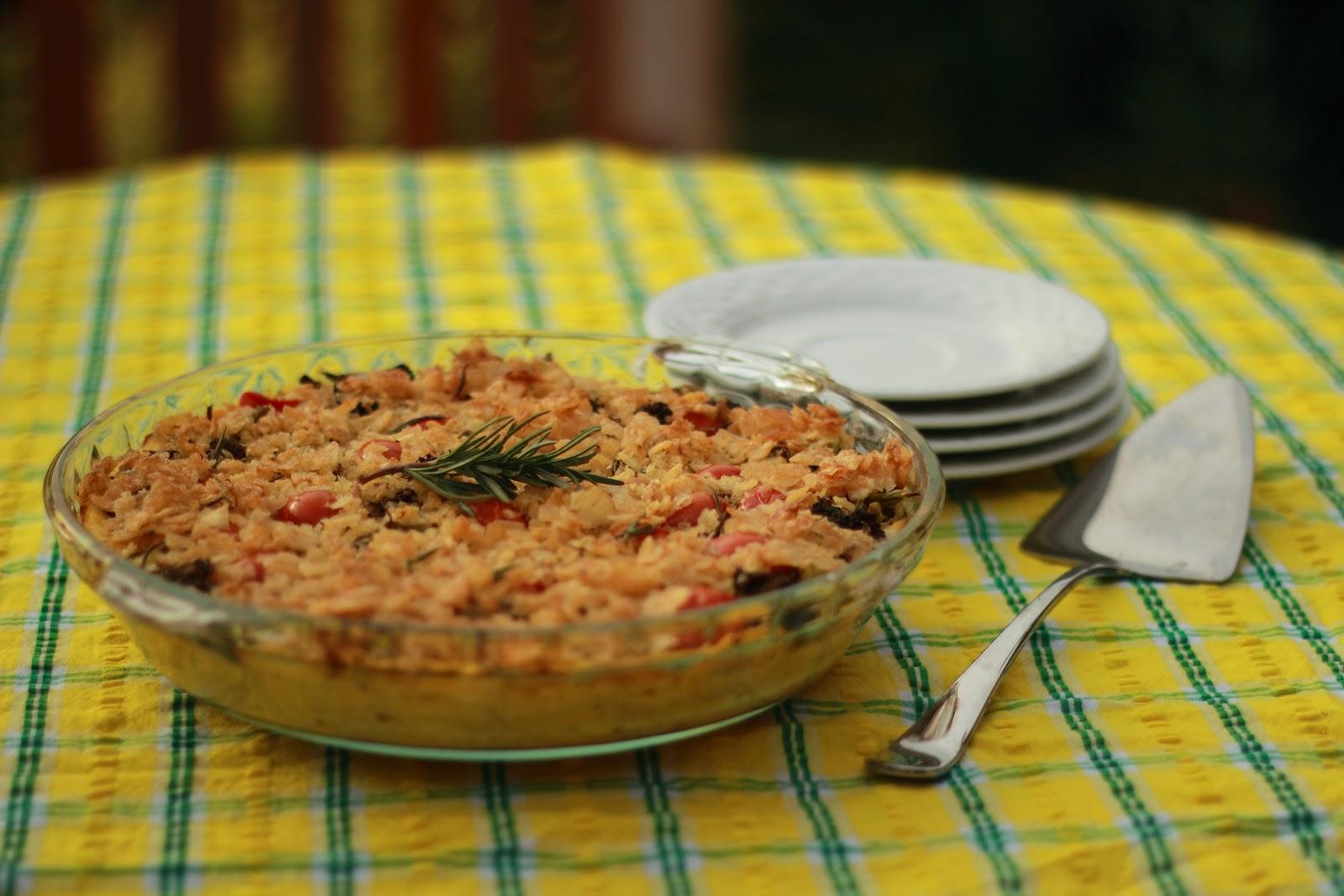 Vegan Pasta Pie Recipe — Dishmaps